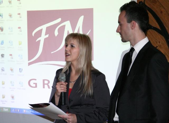 Edyta Przybyłko i konsekwentny Daniel Woźniak z FM GROUP