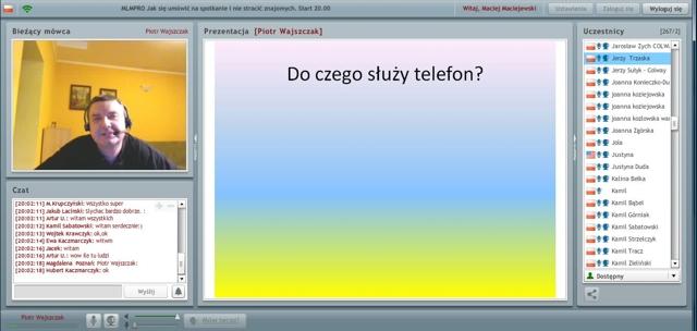 Przykładowy webinar Piotra Wajszczaka
