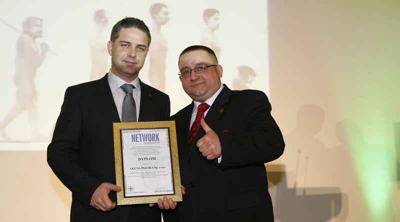 Certyfikat Kompetencji i Rzetelności dla Akuny