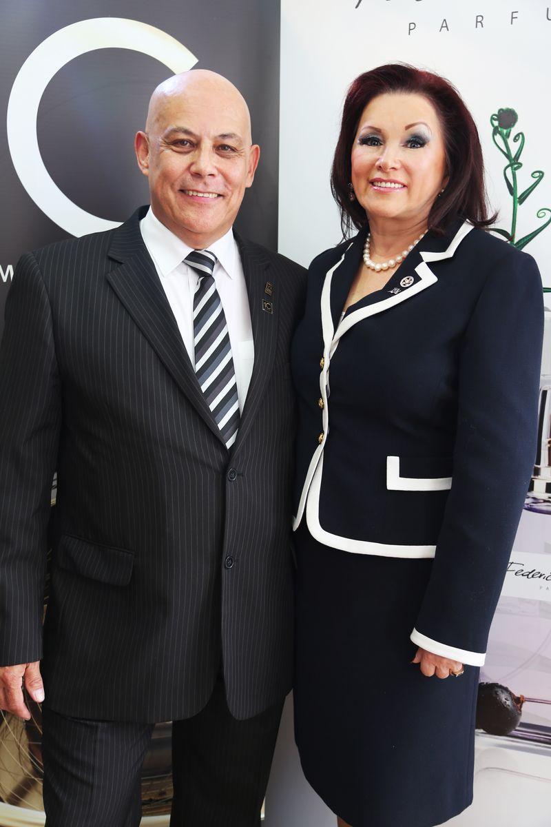 Irena Oliver z mężem