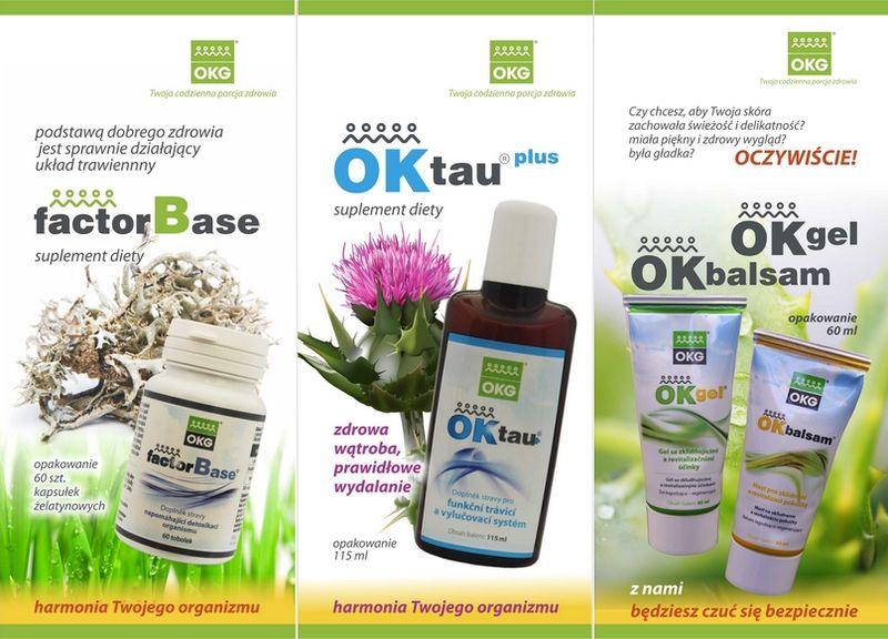 Niektóre z produktów OKG